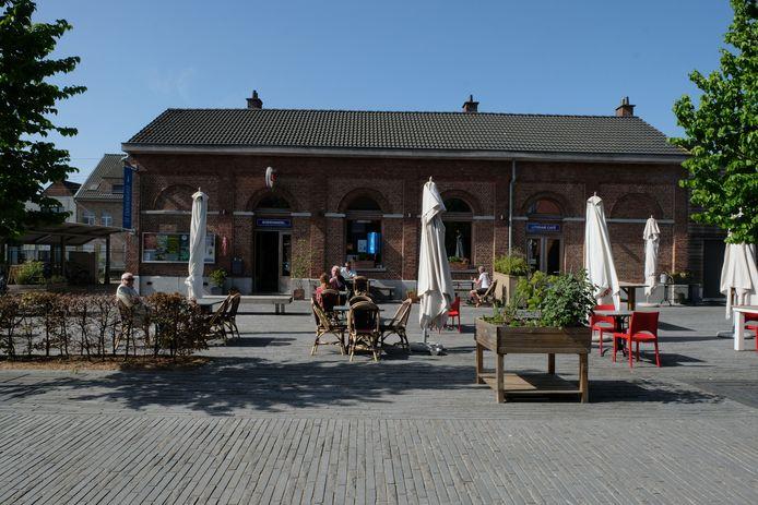 Het stationsgebouw van Berlaar