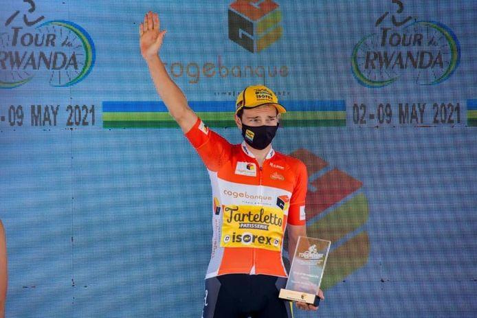 Lennert Teugels mocht in Rwanda twee keer het hoogste podium betreden.