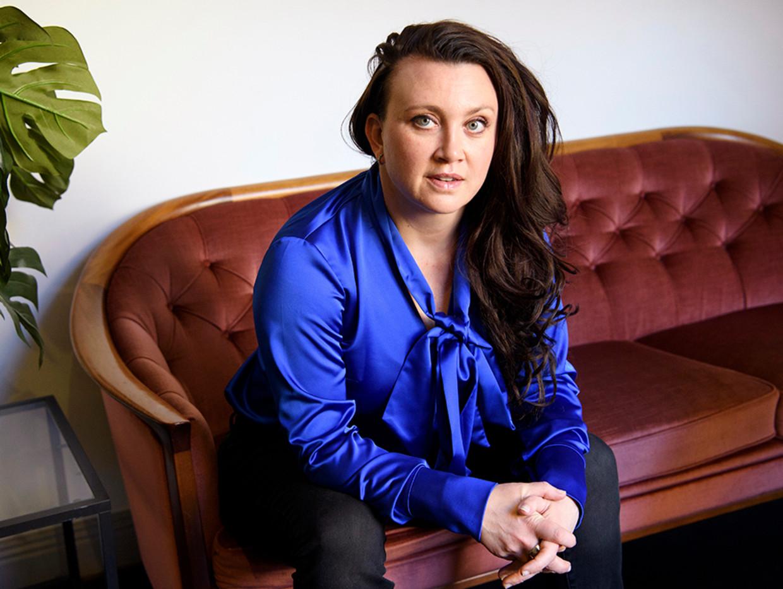 Camilla Läckberg: 'Mannen zijn leuk, maar vaak niet te vertrouwen.' Beeld rv