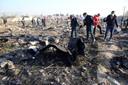 De site van de crash nabij Teheran.