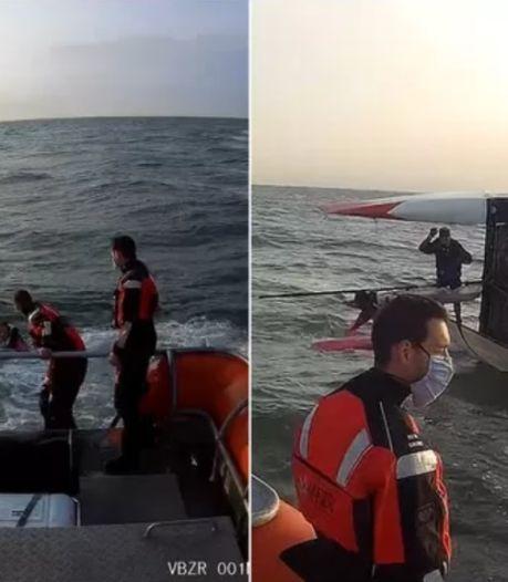 Un catamaran chavire au large du Coq, les secours sauvent un rescapé à la dérive