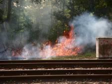 ProRail extra alert op bermbranden bij het spoor