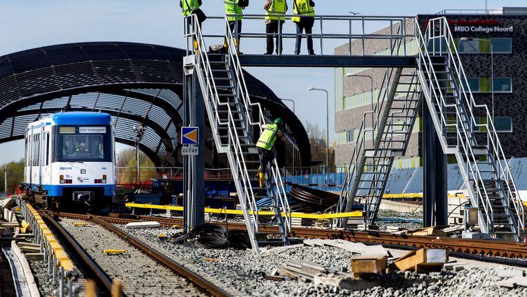 De eindhalte van de Noord/Zuidlijn in Noord Beeld anp