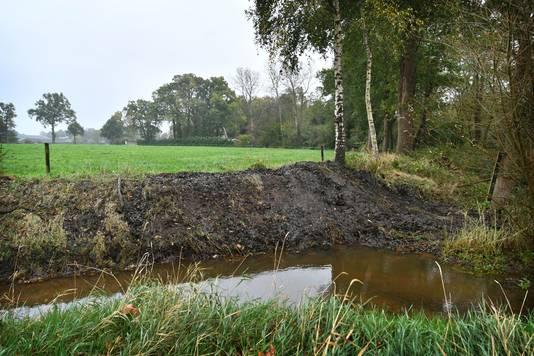 Molenbeek vlak bij oude woonhuis Tommy Wieringa aan de Langeveenseweg in Geesteren.