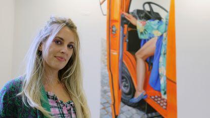 Muurschildering 'Ride or Die' van Lisse Declercq officieel ingehuldigd in cultuurhuis De Warande