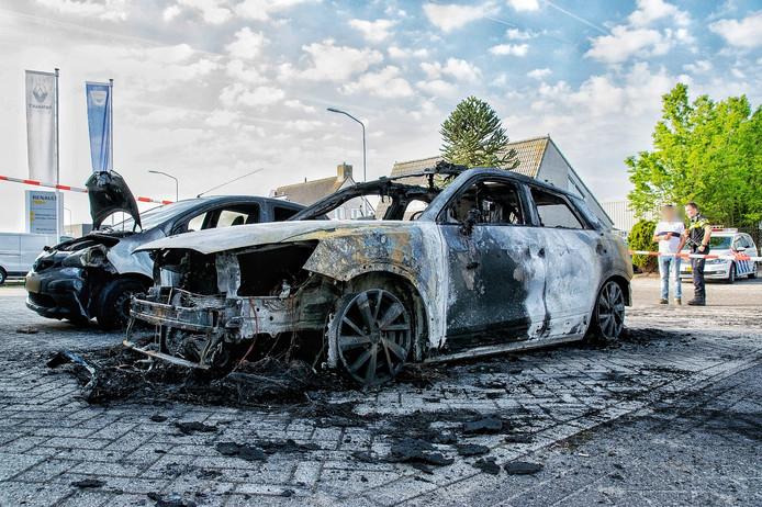 Autobrand in Goirle