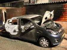 Geparkeerde auto in brand in Waardenburg