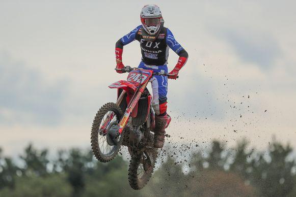 De Sloveen Tim Gajser tijdens de GP van Limburg in Lommel.
