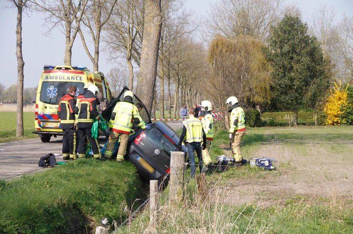 Het ongeluk vond plaats op de Arkemheenseweg in Putten.