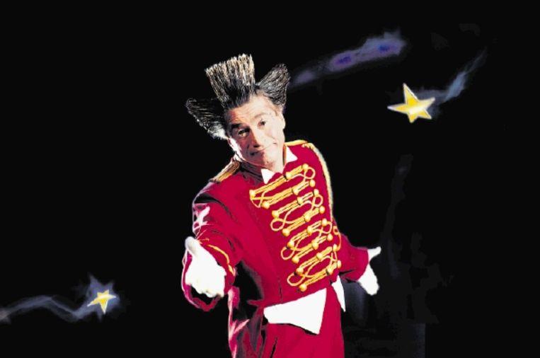De clown Fumagalli, die net als Hans Klok en trapezewerkers The New Young Flyers een van de acts is van het Wereldkerstcircus in Carré. ( FOTO STARDUST) Beeld