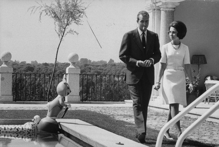 Juan Carlos kreeg drie kinderen met zijn Griekse vrouw Sophia.  Beeld David Lees / Getty