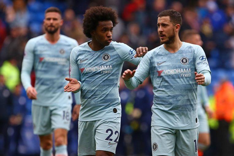 Hazard mocht pas in minuut 53 invallen, maar dankzij hem ging het ultiem toch nog van 1-0 naar 1-2 voor Chelsea.