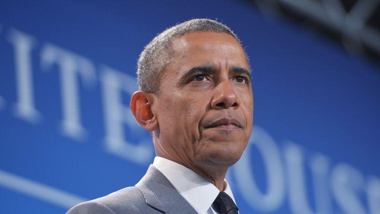 President Obama blijft troepen sturen naar Irak. Ze gaan niet om te vechten, benadrukt hij. Beeld afp