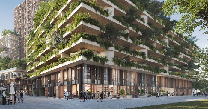 Het project Wonderwoods met een verticaal bos.