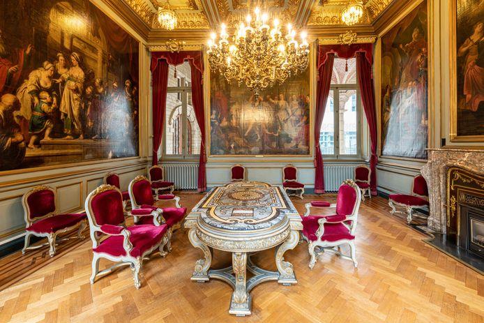 De salons van het historisch stadhuis in Leuven zijn pareltjes.