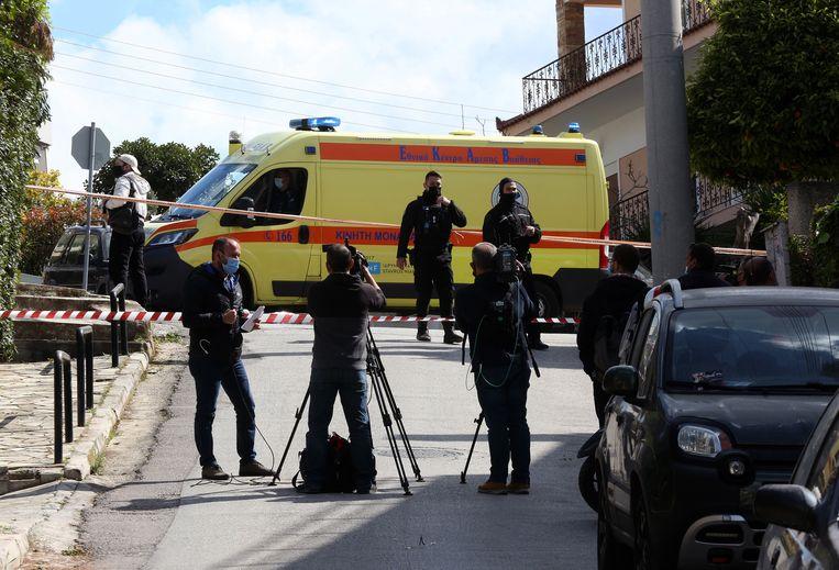 Politie bij de plaats delict. Beeld EPA