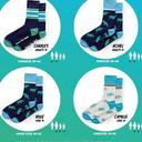 De verschillende modellen van sokken zijn genoemd naar de kinderen.