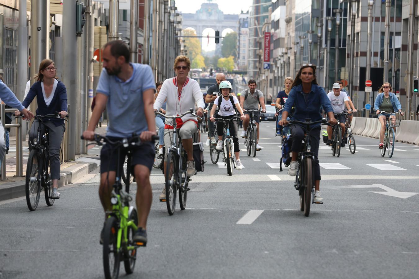 Le dimanche sans voiture à Bruxelles, édition 2020.