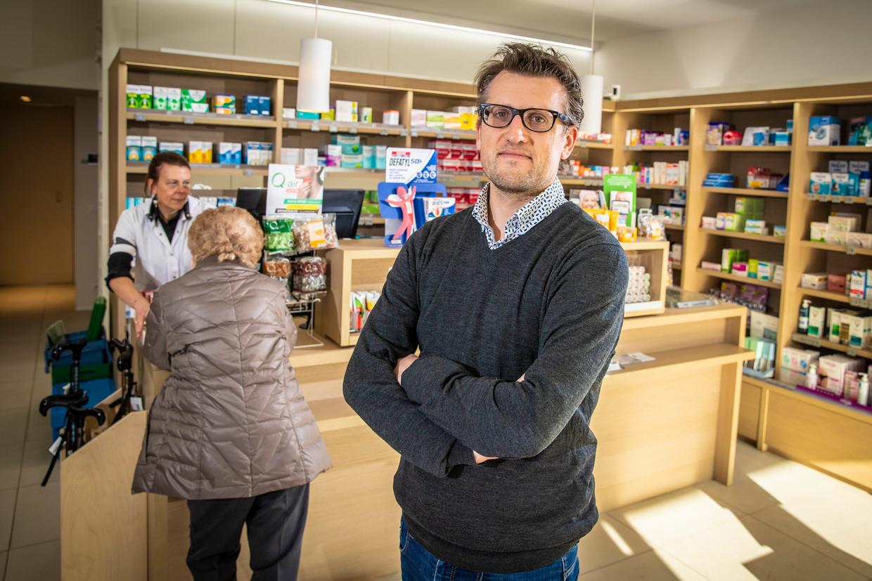 Michael Storme (40), voorzitter Oost-Vlaamse apothekersgilde Beeld Jan De Meuleneir / Photo News