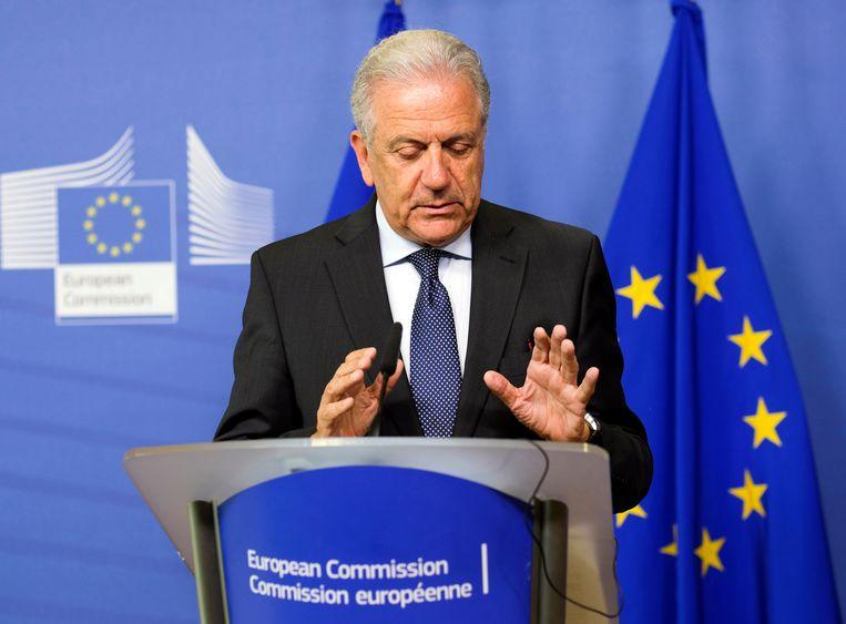 Europees commissaris voor Asiel en Migratie Dimitris Avramopoulos.  Beeld EPA