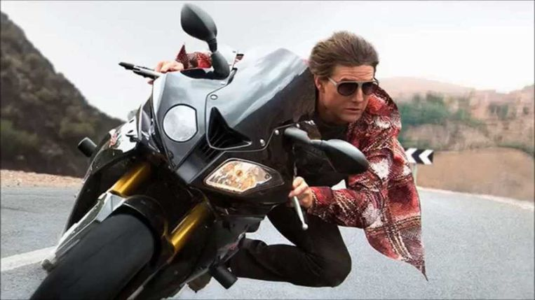 Tom Cruise in Mission Impossible - Rogue Nation (Christopher McQuarrie, 2015). Beeld