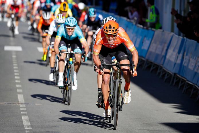 Greg van Avermaet, de snelste in de derde etappe van de Ronde van Valencia.