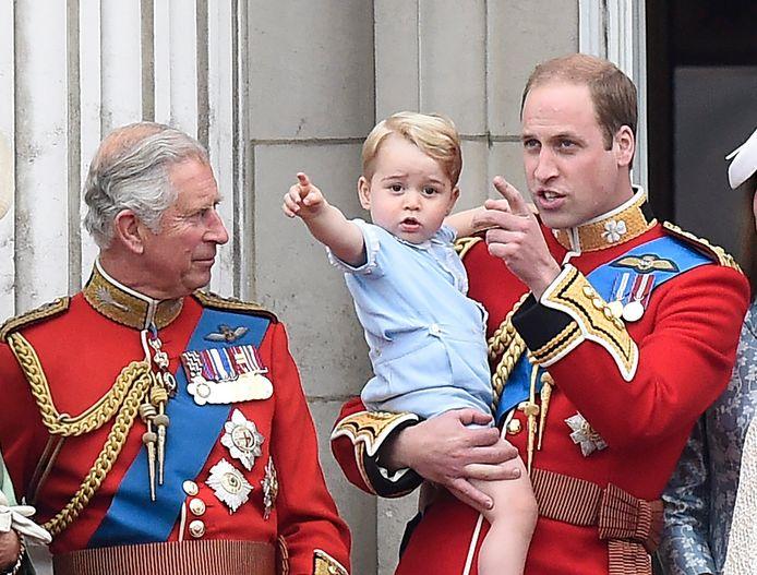 Prins George in 2015 bij festiviteiten rond de verjaardag van zijn overgrootmoeder koningin Elizabeth.
