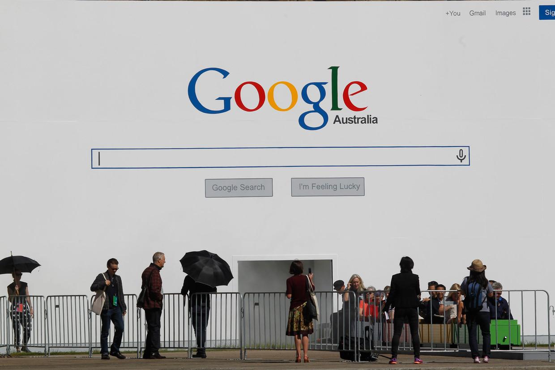 In 2014 adverteerde Google tijdens de biënnale van Sidney.  Beeld European Press Agency (EPA)