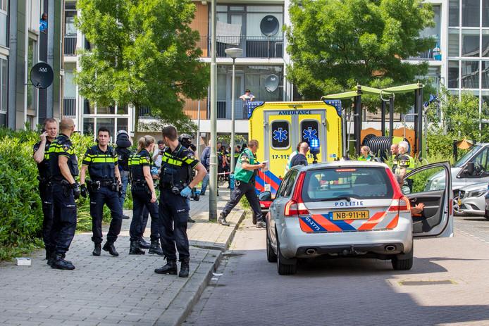 Het incident vond in de Van den Tempelstraat plaats.