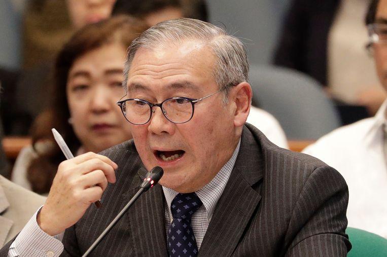 De Filipijnse minister van Buitenlandse Zaken Teodoro Locsin. Beeld AP