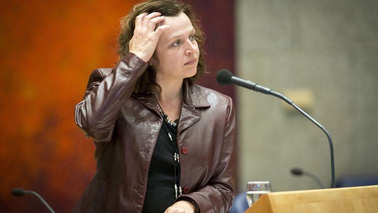 Minister Edith Schippers van Volksgezondheid tijdens een debat in de Tweede Kamer. Beeld ANP