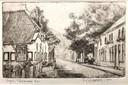 Een tekening van de Taalstraat gemaakt door Aart van Woensel.