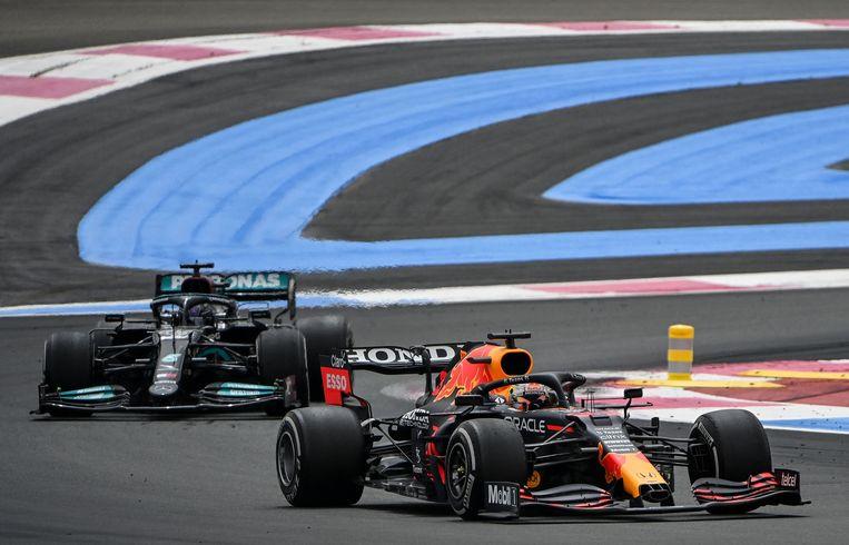 Max Verstappen tijdens de Grote Prijs van Frankrijk. Beeld AFP