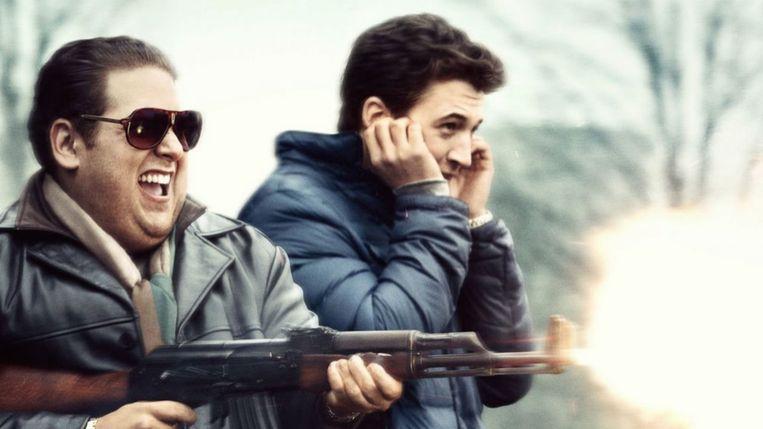 Jonah Hill en Miles Teller in War Dogs van Todd Phillips. Beeld