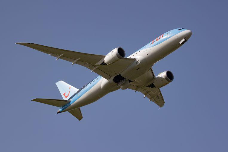 Een TUI-toestel van het type Boeing 787 Dreamliner  Beeld NurPhoto via Getty Images