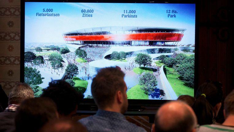 De plannen voor het Eurostadion werden vorig weekend voorgesteld.