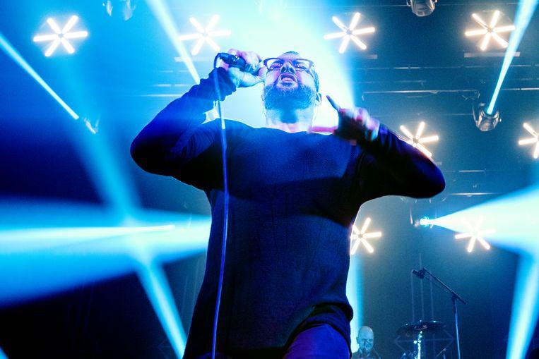 Alex Agnew tijdens het laatste concert van Diablo Blvd. Beeld Alex Vanhee