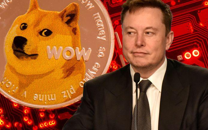 Elon Musk tweette drie keer over Dogecoin, maar een koersstijging van de cryptomunt bleef uit.