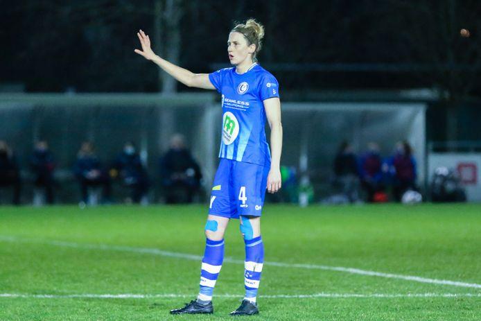 Heleen Jaques is momenteel aan de slag bij AA Gent Ladies, maar stopt eind dit seizoen met voetballen en gaat met een uitgebreid takenpakket aan de slag bij de Voetbalbond.