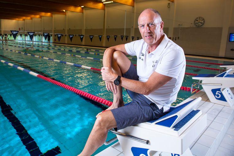 Ronald Gaastra in het Wezenberg-zwembad. Beeld Photo News