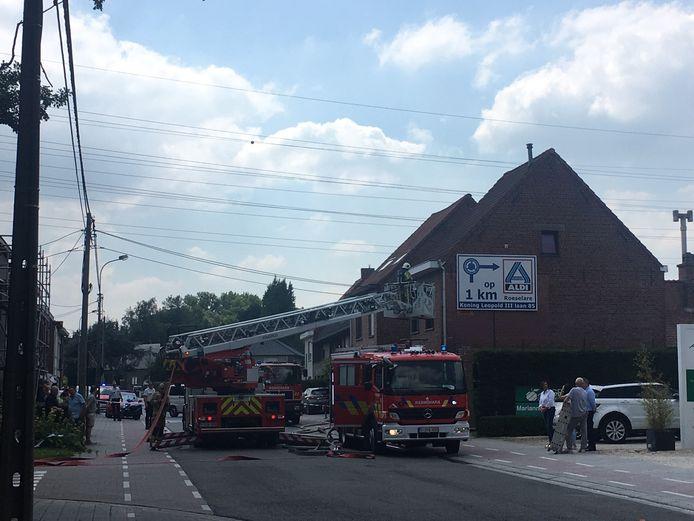 De brandweer snelde ter plaatse.
