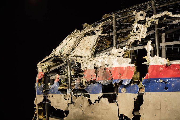 Het wrak van de Boeing 777 die boven Oekraïne neerstortte. Beeld Photo News