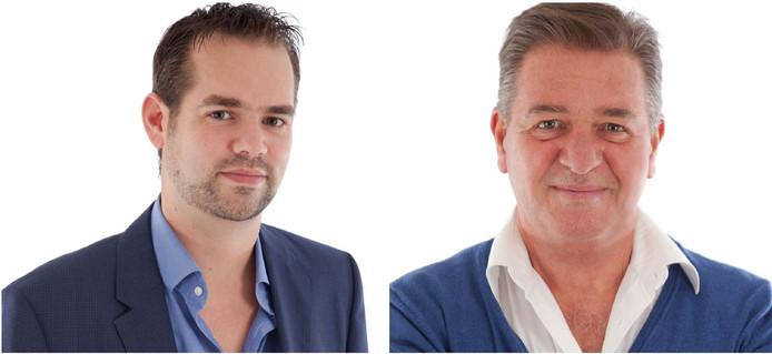 Chris Hottentot (r) en Tom den Daas liepen vanavond weg uit de raadsvergadering.