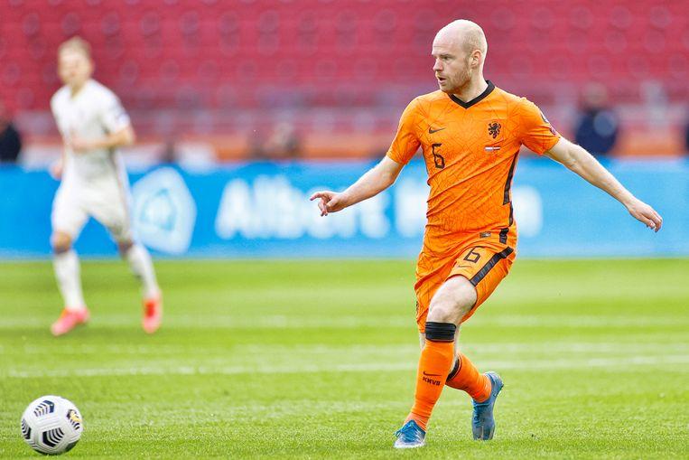 Davy Klaassen tijdens het WK-kwalificatieduel tussen Nederland en Letland (2-0). Beeld Pro Shots / Stanley Gontha