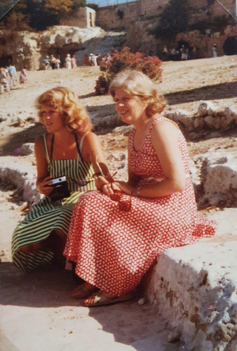 Diete en Lidy in 1976, Pompeï. Beeld