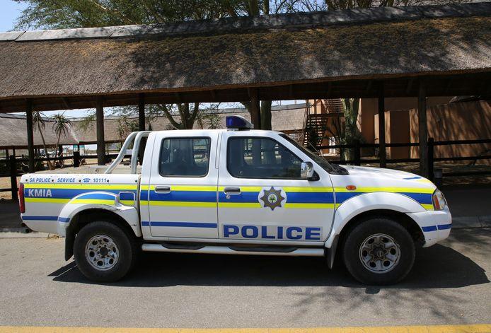 Een politiewagen in Afrika. Foto ter illustratie