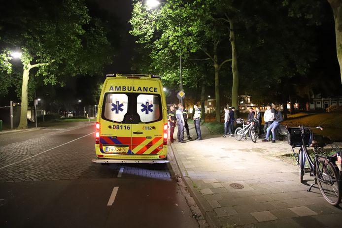 De man is voor controle overgebracht naar het ziekenhuis.