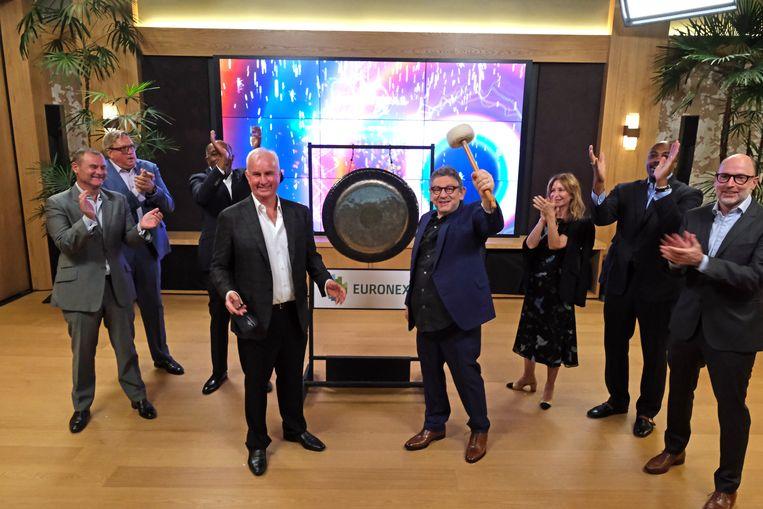 Afgelopen dinsdag ging de Universal Music Group succesvol naar de beurs in Amsterdam.  Beeld Getty Images