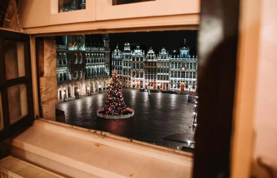 La vue du dôme Cocoon Brussels.