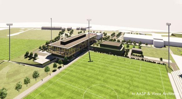 Het nieuwe complex van de KBVB.